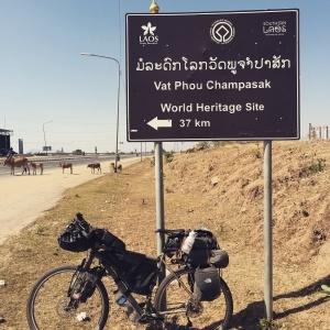 Bicycle Champasak Sign