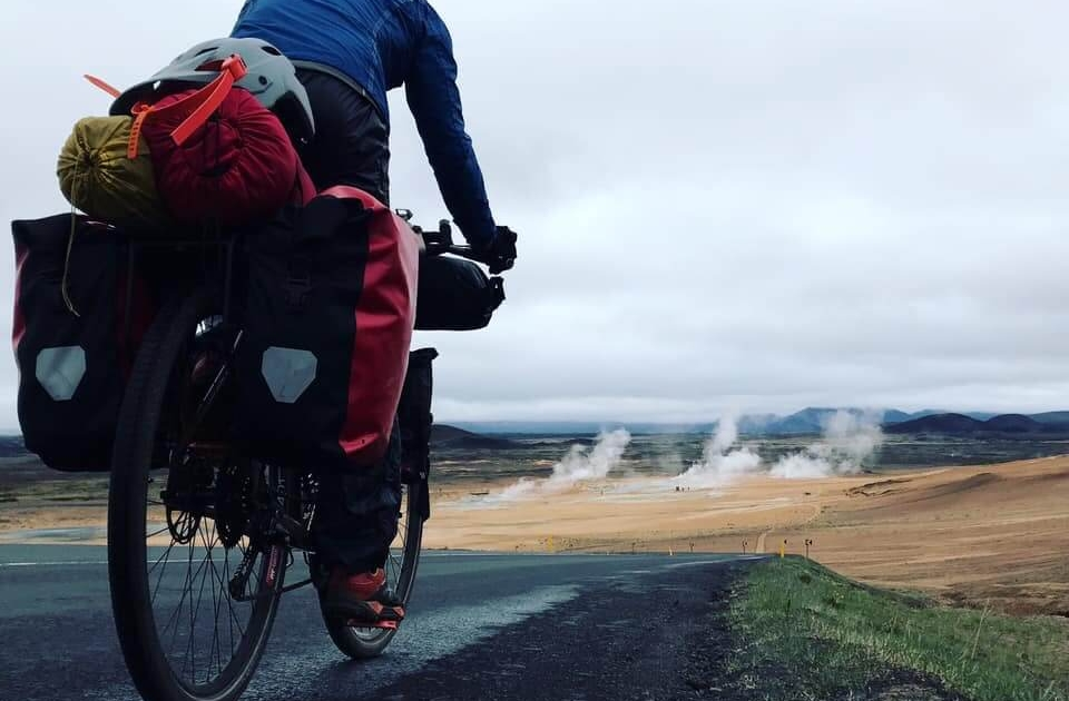 Cyclist and thermal pools