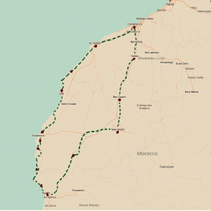 Morocco Bicycle Touring Map